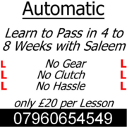 Automatic Driving Lessons in Wolverhampton. Quality at Cheap price.